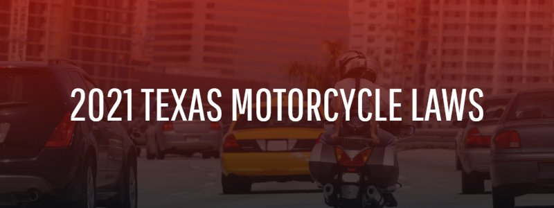 2021 Texas motorcycle laws