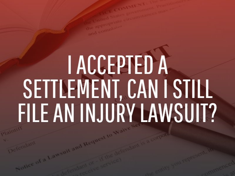 what happens if I accept a settlement